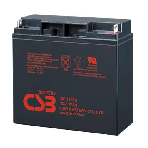 SEALED LEAD ACID BATTERY (SLA), 12V, 17Ah