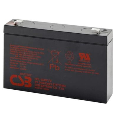 SEALED LEAD ACID BATTERY (SLA), 6V, 7Ah (34W)